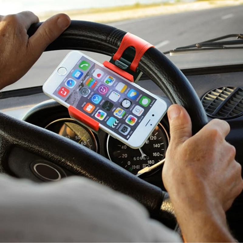 GPS 자동차 스티어링 휠 전화 홀더 탐색 브라켓 스탠드 케이스 커버 아이폰 5 초 6 6 초 플러스 아이폰 7 8 플러스 X 삼성 S7