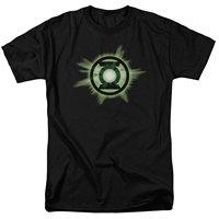 2017 حار رجل t قميص الصيف مضحك coolprinted dc كاريكاتير الأخضر فانوس الوهج العدل الشعار الدائري الرجال الكبار t-shirt أسود