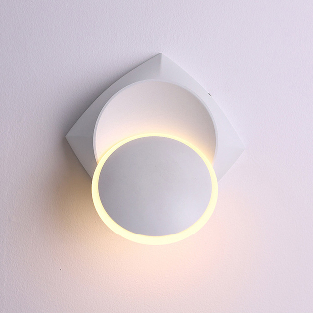 Nordic Style Wall Light Aluminum + Acrylic Solid Color 360 Degree Rotation Wall Lights Lamp / Bedroom Living Room Decor FixturesNordic Style Wall Light Aluminum + Acrylic Solid Color 360 Degree Rotation Wall Lights Lamp / Bedroom Living Room Decor Fixtures