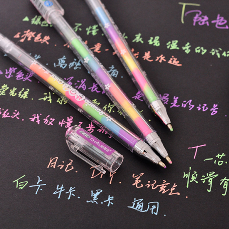 Creative 6 Colors Water Chalk Pen Cute Kawaii Watercolor Gel Pens Office School Supplies Korean Stationery Student 222