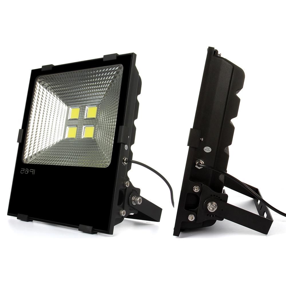 ФОТО 10pcs Ultrathin Led Flood Light 100W 150W 200W Black Shell IP65 Waterproof AC85-265V Floodlight Spotlight Outdoor Lighting
