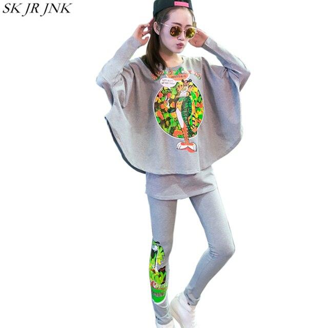 2017 Spring Autumn Women 2 Piece Sets(Sweatshirts+Trousers ) Casual Suits Female Cotton O-Neck Long Sleeve Hoodies Pants WQ390