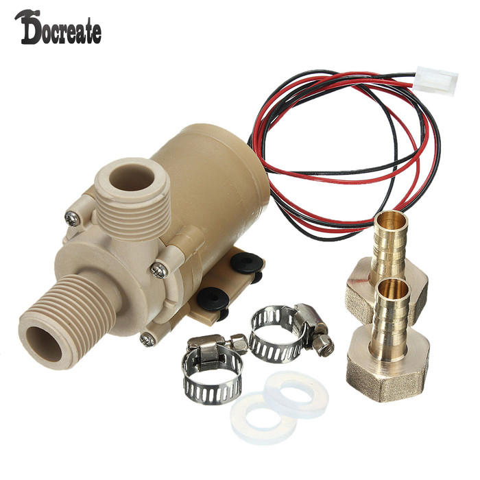 DC 12V Solar Hot Water Circulation Pump Brushless Motor Water Pump dc 12v 1a powerful micro brushless magnetic amphibious appliance water pump