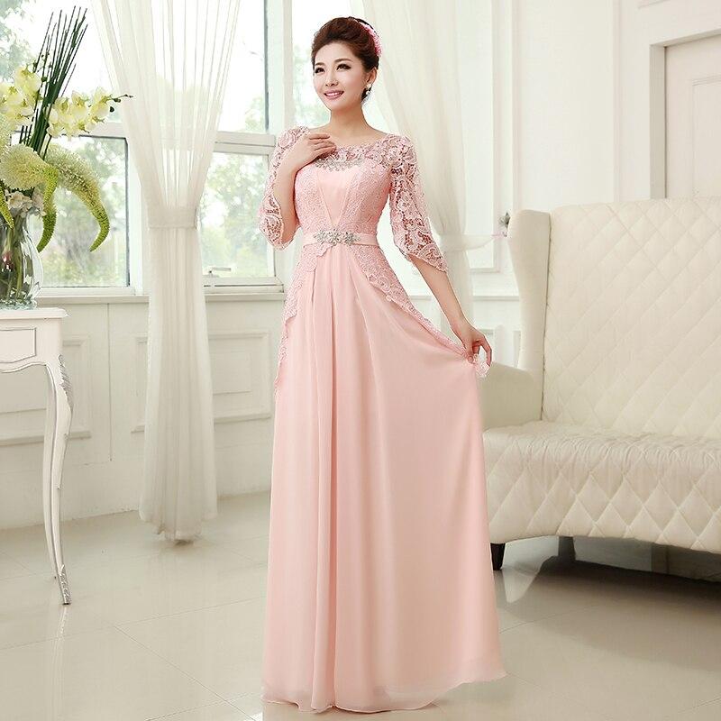 Lujoso Vestidos De Dama Largas De Color Rosa Modelo - Ideas de ...