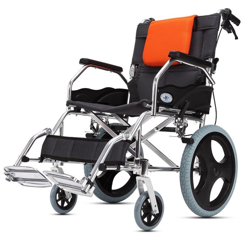 Кай Ян кресло складной свет пожилых инвалидов ручной самоходные ходунки пожилых не надувные ультра легкий Портативный