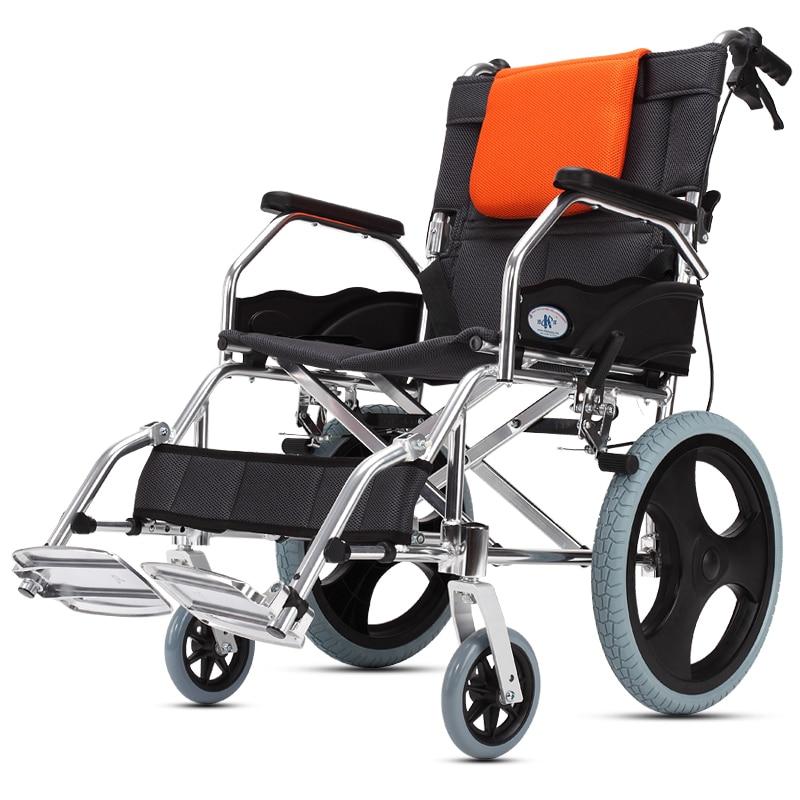 Kai Yang Fauteuil Roulant Pliant Lumière Personnes Âgées Personnes Handicapées Main-Propulsé Marcheurs Personnes Âgées Non-Gonflable Ultra-Léger Portable