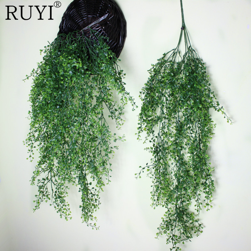 Hanging Plant Artificial Plant Leaves Wall Home Decoration Flower Basket/Kep Accessories Balcony Decorattion