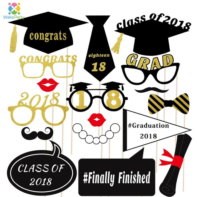 class of 2018 fun graduation party photo booth props graduation