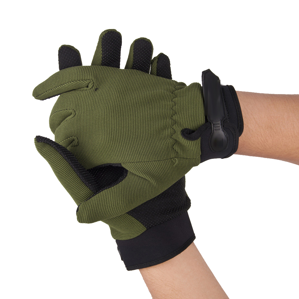 1 Pair Outdoor Antiskid Men Tactical Military <font><b>Gloves</b></font> Airsoft <font><b>Cycling</b></font> Hunting Full Finger <font><b>Gloves</b></font> Army <font><b>Green</b></font> <font><b>Glove</b></font> image