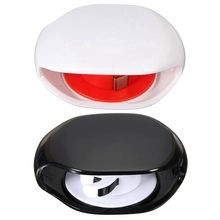 2 PCS Automatic Cable Manager For Earphone Corde Headphones Storage, White & Black