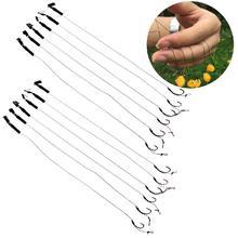 6 шт. Barbless Размер 6 8 10 Карп рыболовные Крючки снасти для волос рыболовные аксессуары снасти
