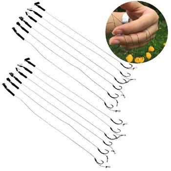 6Pcs Barbless Size 6 8 10 Carp Fishing Hook Tackle Hair Rigs Fishing Accessories Tackles цена 2017