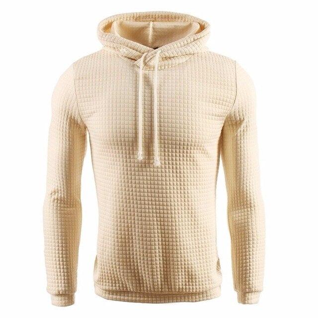 Hoodies Men 2017 Brand Male Hip Hop Long Sleeve Solid Color Hooded Sweatshirt Mens Hoodie Tracksuit Sweat Coat Casual Sportswear
