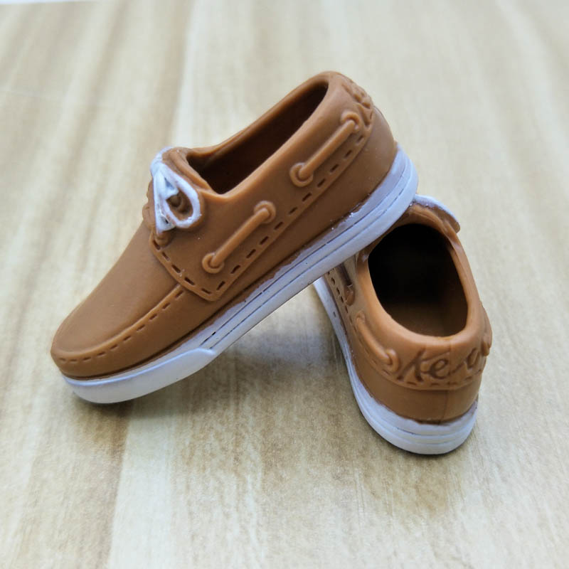 Brown Casual Shoes For Barbie Ken Male Doll 1:6 Doll Accessories Mini Shoes For Prince Ken Boy Men Doll