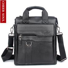 2018 New Hot Genuine Leather Men Bag Cowhide Shoulder Fashion Men Messenger Bags Crossbody Bags Handbags Black Men's Travel Bag