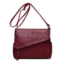 Pu Leather Luxury Handbags Women Bags Designer Women Messenger Bags Summer Bag Woman Bags For Women 2018 Red Sac A Main bolsos