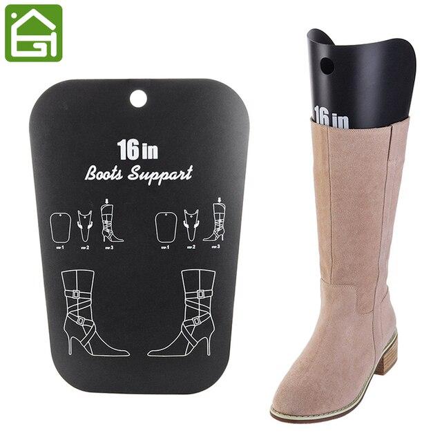 Merveilleux 1 Pair Black Boot Stand Holder Women Knee High Boot Inserts Plastic  Supporter Storage Closet Shoe