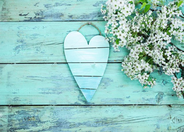 Blank Pallet Heart Rustic Teal Wedding Blue Vintage Wood Spring Flower Vinyl Cloth Computer Print Party