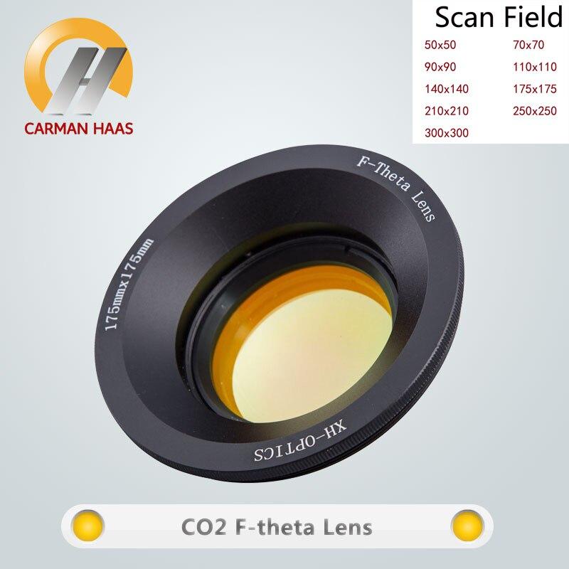Carmanhaas co2 f lente de varredura do laser lente 10,6um varredura campo 300*300mm para a máquina da marcação do laser do co2