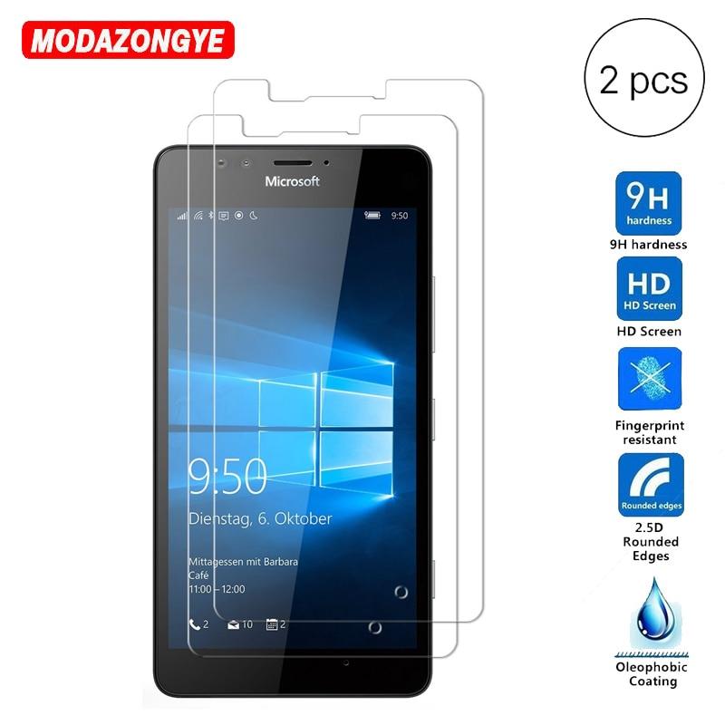2Pcs Tempered Glass For Nokia Lumia 950 Screen Protector Film 2.5D 9H Protective Tempered Glass For Microsoft Lumia 950 Dual Sim