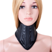 Sexy Erotic Chastity Neck Collar PU Leather Bondage Gear