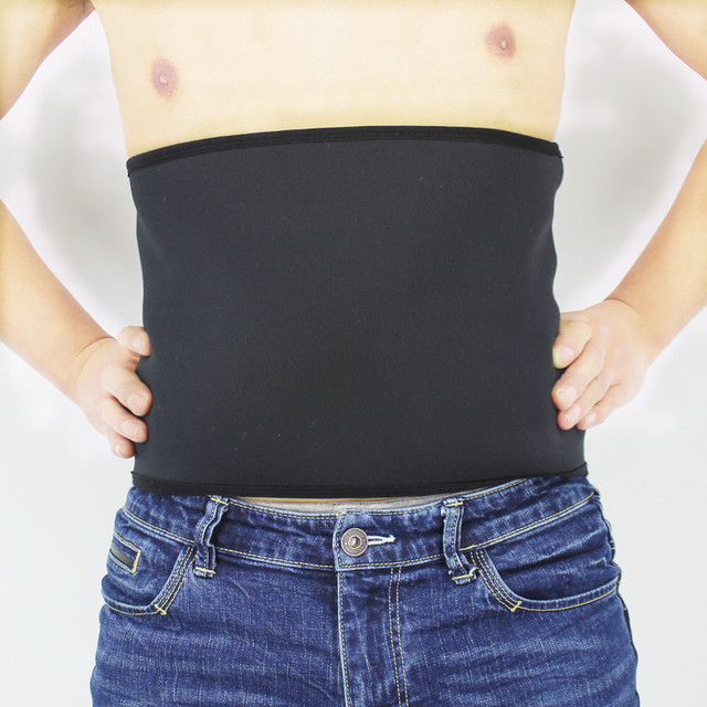 Shapers Belt Men Body Shapers Compression Waist-Trimmer Belts Neoprene Abdominal Slimming Belt Sweat Sauna Trainer Corset 2