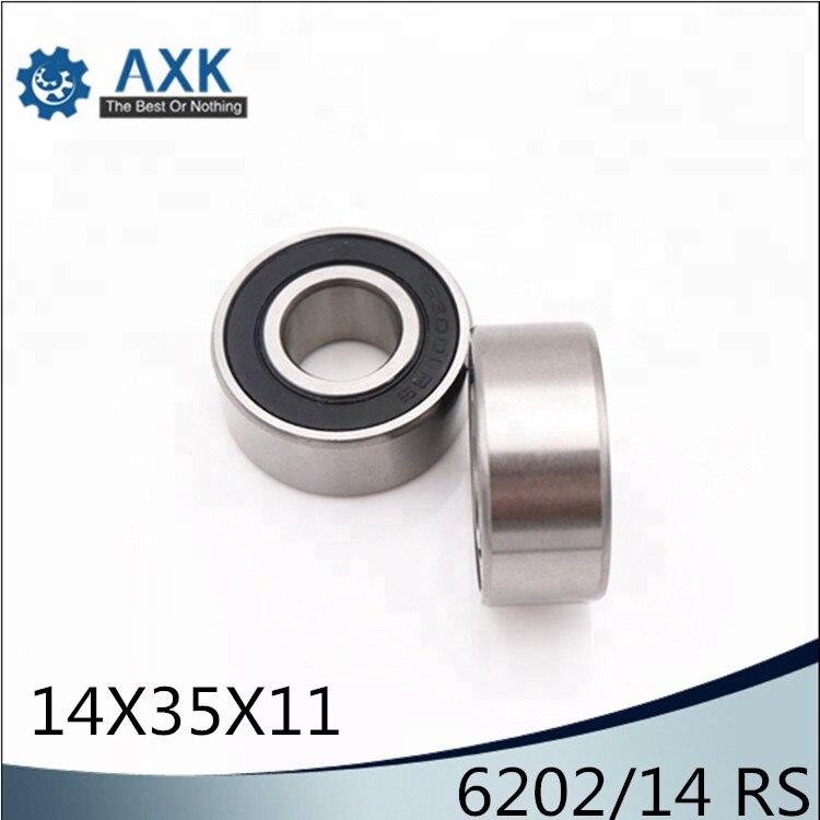 50 pcs 6202 2RS C3 rubber sealed ball bearing 15x 35x 11 mm