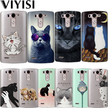 VIYISI Cute Cat Animal For LG G6 Q6 G4 G5 Phone Case Coque X Power 2 Q8 K7 K8 K10 2017 Shell Soft Silicone TPU Back Cover Etui