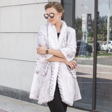The new mink wool knitting fur coat lady real mink fur coat in the long winter fur was thin thickening encryption