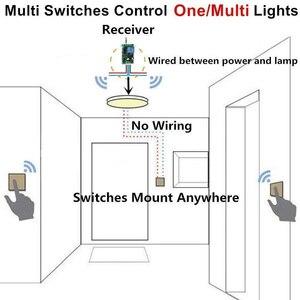 Image 4 - 433Mhz اللاسلكية RF التحكم عن بعد التبديل التيار المتناوب 110 فولت 220 فولت مصباح مصباح إضاءة ليد مفاتيح لاسلكية ممر غرفة المنزل ألواح للحائط التبديل
