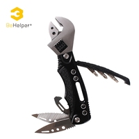 BeHelper Outdoor Multitool Adjustable Wrench Pliers Folding Pocket Knife Screwdriver Set Jaw Opener Survival Hand Tools
