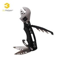BeHelper Outdoor Multitool Adjustable Wrench Pliers Folding Pocket Knife Screwdriver Set Jaw Opener Survival Hand Tools