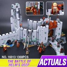 Lepin 16013 Novo 1368 Pcs O Senhor dos Anéis Série A batalha De Helm' Profundo Modelo Blocos de Construção Tijolos Brinquedos Educativos 9474