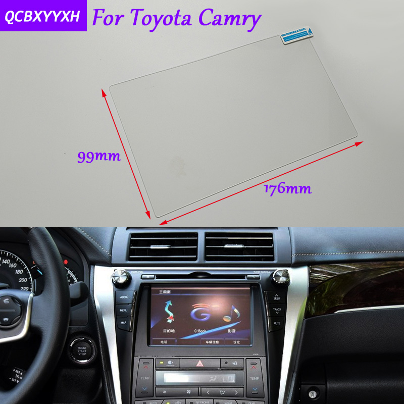 Toyota Camry Accessories >> Us 12 99 15 Off Car Sticker 8 Inch Gps Navigation Screen Glass Protective Film For Toyota Camry Accessories Control Of Lcd Screen Car Styling In