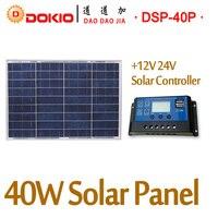 DOKIO Brand Solar Panel 40W Polycrystalline Silicon Solar Panels China 18V 460*660*25mm Size Top Quality Paneles solares China