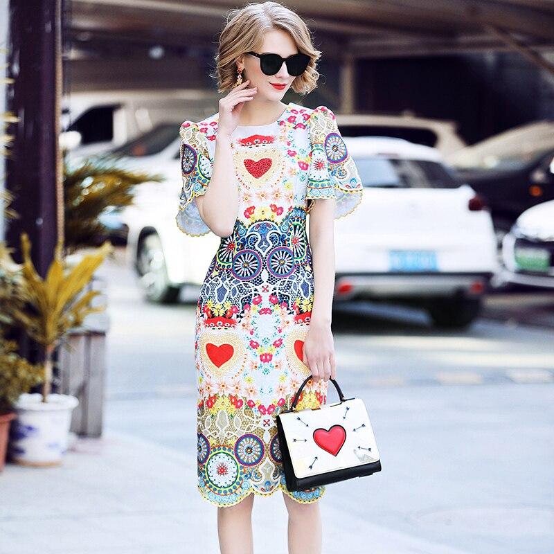Señora 2018 nuevo estilo de verano vestido de las mujeres de moda de - Ropa de mujer