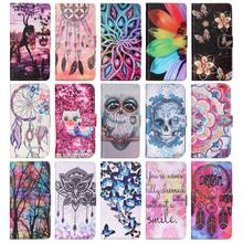 Case For Huawei P9 Lite P9Lite P9Mini 2016 2017 PU Leather Phone Case Flower Butterfly Owl Painted Cover Flip Wallet Bag P03Z(China)
