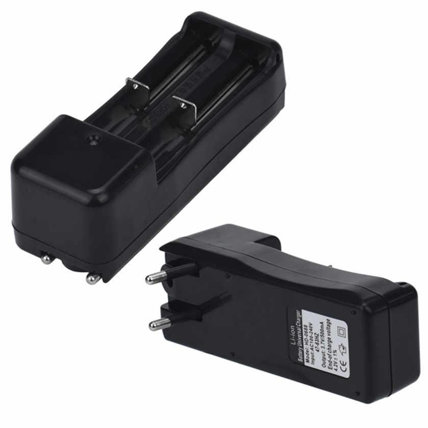 Лучшая цена универсальное двойное зарядное устройство для 18650 16340 26650 литий-ионная аккумуляторная батарея 3,7 в ЕС