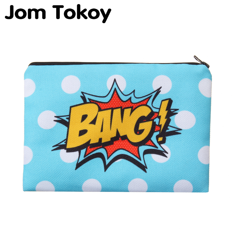 Jom tokoy Bang Portable Type Make up Bags Cosmetic Case Maleta de Maquiagem Bags Storage Travel Makeup Bag Brand Pencil case spark storage bag portable carrying case storage box for spark drone accessories can put remote control battery and other parts