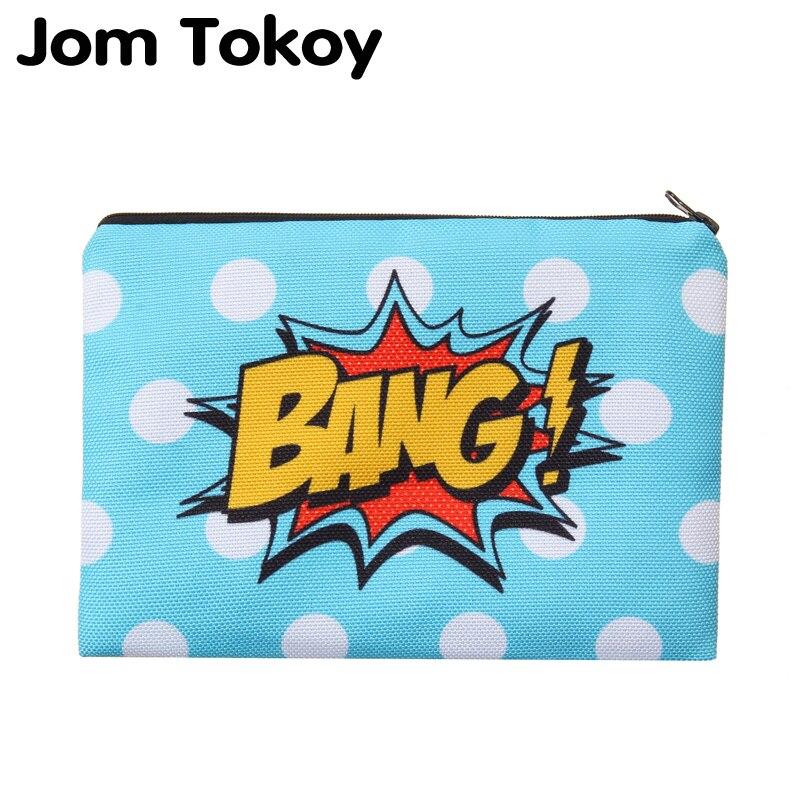 Jom Tokoy Bang Portable Type Make Up Bags Cosmetic Case Maleta De Maquiagem Bags Storage Travel Makeup Bag Brand Pencil Case