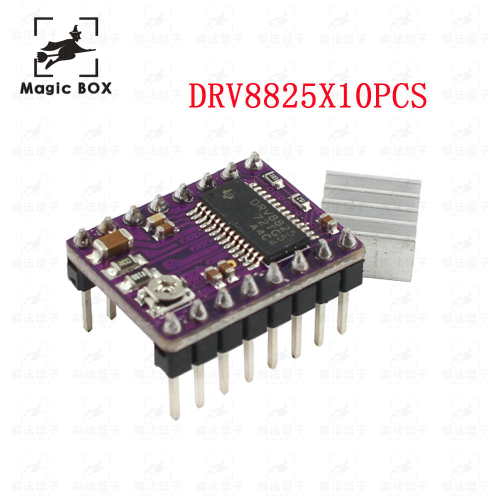 10pcs/lot Drv8825 Stepper Motor Driver Reprap Carrier Reprap 4 PCB Board replace A4988 for 3D Printer Stepstick free shipping 10pcs lot heat sink for a4988 a4983 stepper driver