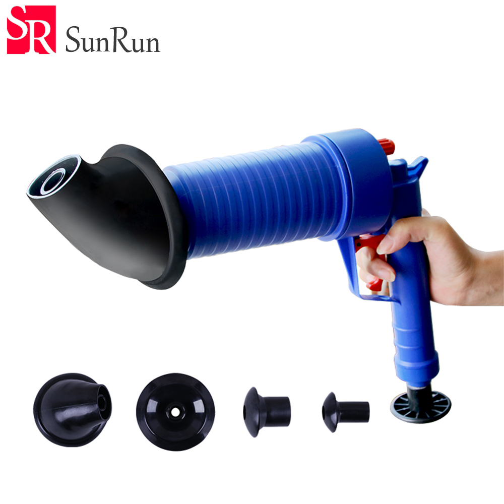 Gun type Pipe dredge toilet plunger plug suction as household tools ...