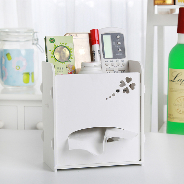 DIY Multifunction Office Desktop Tissue Storage Box Car Grocery Mobile  Phone Key Container Store Cartridges Hot