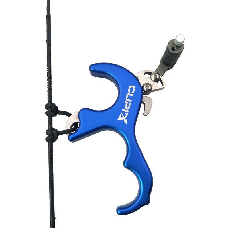 4 Finger Bow Release Aid Aluminum Alloy CNC Archery Caliper Release Hook Bracket for Compound Bow Archery Arrows and Bow Release allen company exacta xx archery buckle release
