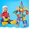 118 шт. Мини Магнитный Конструктор Construction Set Модели и Строительство Игрушки Пластиковые Магнитные Блоки Обучающие Игрушки Для Детей Подарок