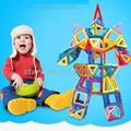 118pcs Mini Magnetic Designer Construction Set Model & Building Toy Plastic Magnetic Blocks Educational Toys For Kids Gift