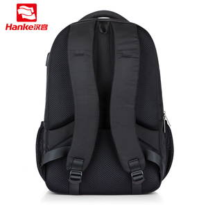 "Image 3 - Unisex Women Men Laptop Backpack Business Travel Bag Boys Girls School Bag Large Capacity USB Port Waterproof Black 19"" H6851"