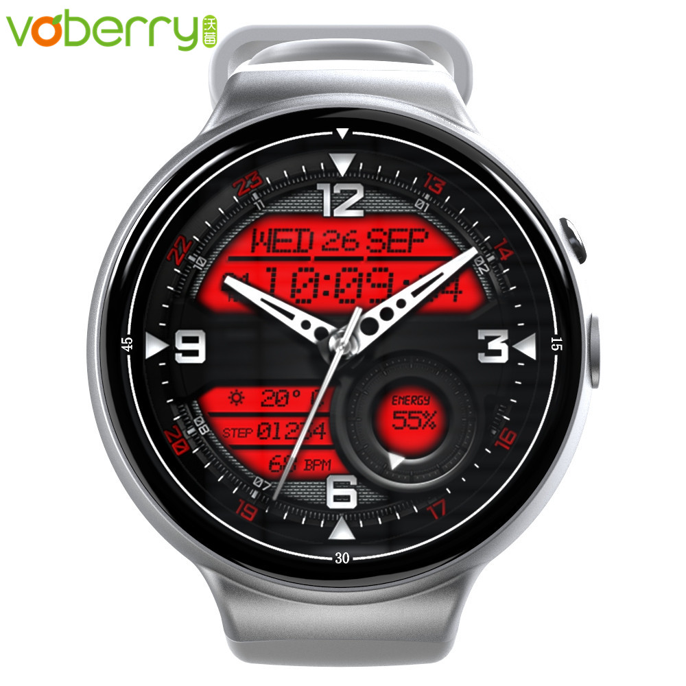 Voberry I4Air montres intelligentes 2G + 16G Plein Cercle Wifi Coeur Taux Payer GPS Caméra montre connectée hommes étanche montre android téléphone