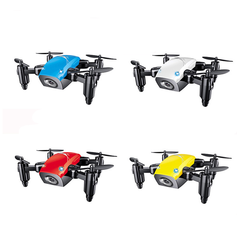 S9 S9HW Mini Foldable Pocket Drone with Camera Phone Control Headless Mode RC Helicopter FPV HD Camera Dron for J073 ...