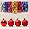 24PCS Christmas Tree Decor Ornament 4 6CM Ball Type Craft Christmas Gift Boxes Flash Light Decor